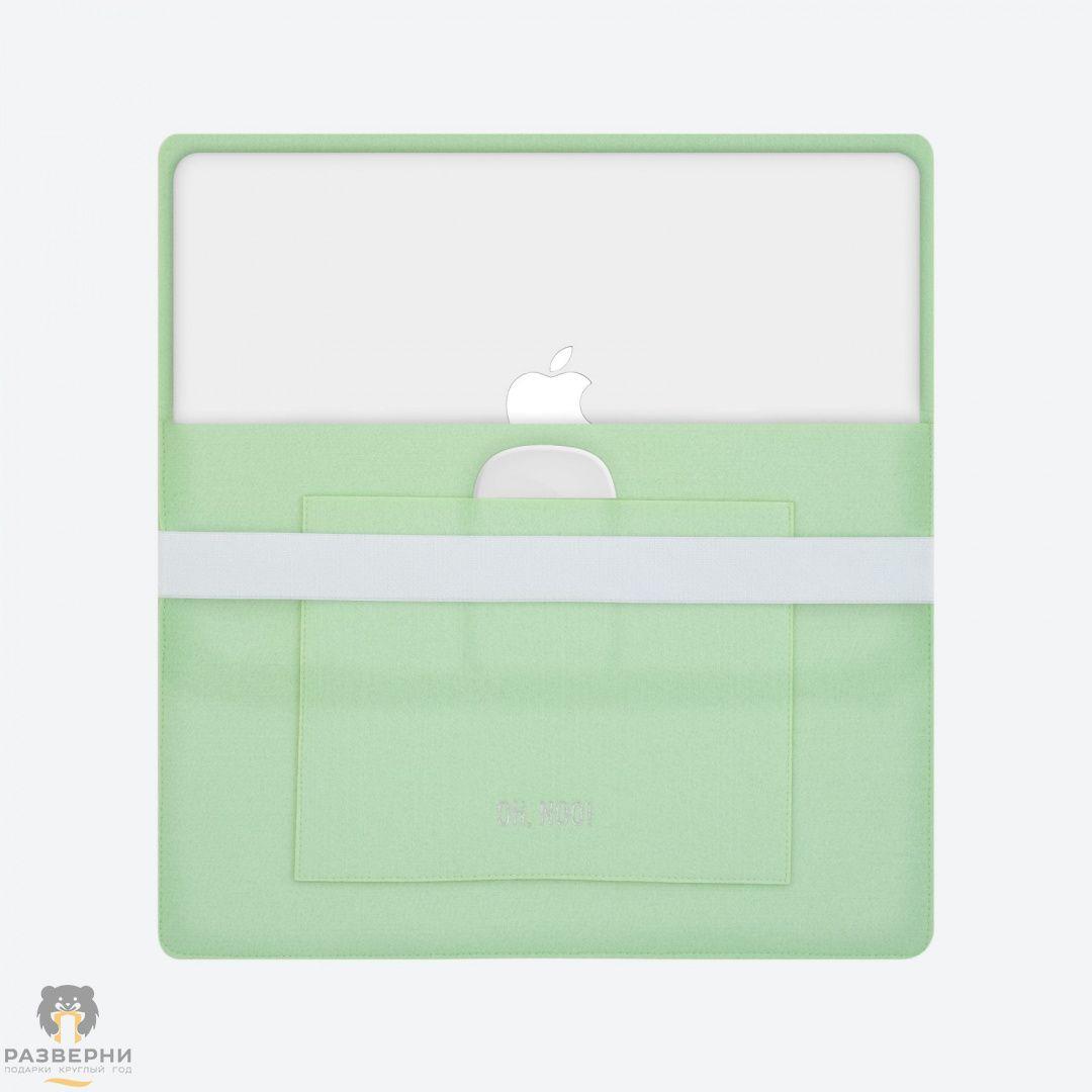Купить Горизонтальный чехол зеленого цвета с крышкой для ...